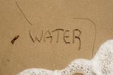 California  Santa Barbara Co  Jalama Beach  Water Written in Sand