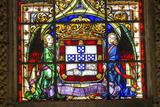 Stained Glass Window  Jeronimos Monastery  Lisbon  Portugal