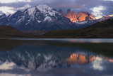 Lago Pehoe with Horn of Torres del Paine  Patagonia  Magellanic  Chile