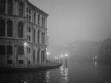 Italy  Venice Building with Grand Canal on Foggy Morning