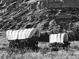 Nebraska  Scotts Bluff National Monument Covered Wagons in Field