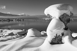 USA  California  Mono Lake Snow-Covered Tufa
