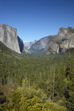 El Capitan  Half Dome  and Bridalveil Fall  Yosemite NP  California