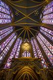 Stained Glass Windows of Sainte Chappelle  Paris  France