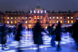 Ice Skaters at Somerset House Ice Rink London England UK
