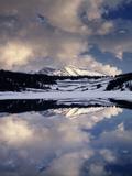 California  Sierra Nevada  Mammoth Peak Reflecting in a Frozen Lake