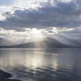 Washington State  Seabeck Composite of God Rays over Hood Canal