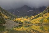 Colorado  Maroon Bells SP Storm Clouds on Maroon Bells Mountains