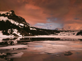 California  Sierra Nevada  a Mountain Peak Reflecting in a Lake