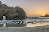 USA  California  Near Big Sur  Pfeiffer Beach Sunset