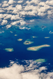 Aerial View of Islands in the Ocean  Indonesia