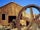 Rusting Machinery  Ghost Town of Berlin Berlin-Ichthyosaur SP  Nevada
