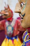 Masked Dancer  Tshechu Festival  Wangdue Phodrang Dzong Wangdi  Bhutan