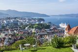 Beautiful Overlook of the City of Bergen  Norway