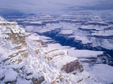 Snow Covered Grand Canyon  South Rim  Grand Canyon NP  Arizona