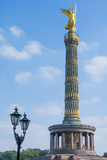 Victory Tower Siegessaule in City Center  Berlin  Germany