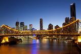 Story Bridge and Skyline Along the Brisbane River  Brisbane  Australia