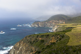 Highway 1 and Bixby Bridge Along the Pacific Coastline California