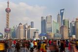 Crowds on the Bund  Shanghai  China