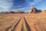 Tracks in the Desert  Wadi Rum  Jordan