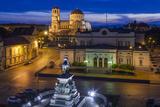Bulgaria  Sofia  Ploshtad Narodno Sabranie Square  Elevated View  Dawn