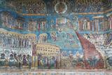 Romania  Voronet  Voronet Monastery  Frescoes Done in Voronet Blue