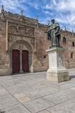 Spain  Salamanca  Frei Luis de Leon in Courtyard of the Clergy
