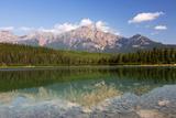 Canada  Alberta  Jasper NP  Pyramid Mountain and Patricia Lake