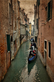 Textures on Canals of Venice Along with Bridges and Old Homes