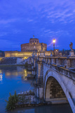 Italy  Rome  Ponte Sant'Angelo at Dawn  also Called St Peters Bridge