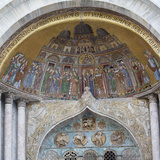 Mosaic Artwork on the Exterior of St Mark's Cathedral  Venice  Italy