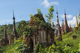 Indein Stupa Complex  Inle Lake  Myanmar