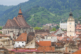 Romania  Transylvania  Brasov  City with Black Church and Town Hall