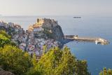 Town View with Castello Ruffo  Scilla  Calabria  Italy