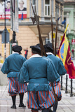 Romania  Transylvania  Brasov  Men Dressed Like Medieval Soldiers
