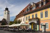Romania  Transylvania  Sibiu  Piata Mare Square  Outdoor Cafe