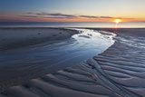 Sand Patterns at Sunset  Bound Brook Island  Wellfleet  Massachusetts