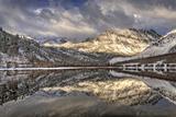 USA  California  Sierra Nevada Range Spring Snow at North Lake