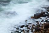 Maine  Acadia NP  Ocean Waves Breaking on Rocks Along Ocean Drive