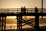 California  Santa Barbara Co  Goleta Beach Co Park  Pier at Sunset