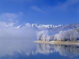 Mt Timpanogas  Deer Creek Reservoir  Wasatch Mountains  Utah