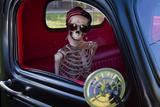 USA  Georgia  Savannah  Skeleton Character in Car Show