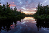 Sunrise on Little Berry Pond in Maine's Northern Forest
