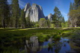 Cathedral Rocks and Pond in Yosemite Valley  Yosemite NP  California