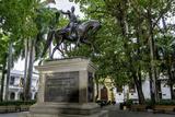 Statue of Liberator Simon Bolivar  Old City  Cartagena  Colombia