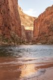 Reflections from Morning Sun Colorado River Grand Canyon Arizona