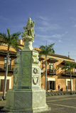 Statue of Christopher Columbus  Old City  Cartagena  Colombia