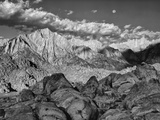USA  California  Sierra Nevada Mountains Moon Above Mt Whitney