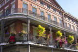 LA  New Orleans Buildings with Balcony Gardens at Jackson Square
