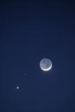 USA  California Moon  Venus and Pluto in the Night Sky